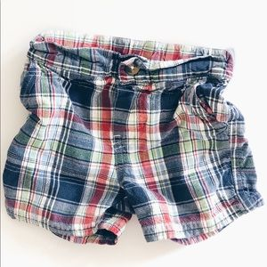 Other - Boy Plaid Short size 6-9 months